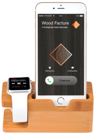 Логотип мастерской Wood Facture