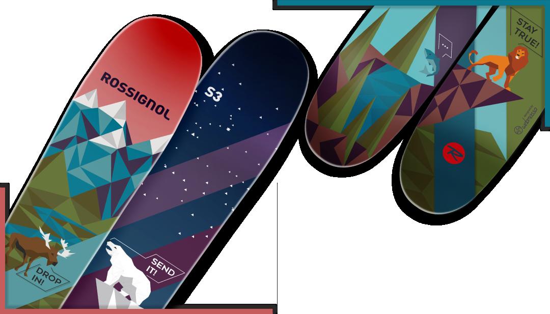 Лыжи с индивидуальным дизайном